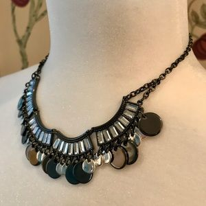 White House Black Market Silver, Crystal Necklace